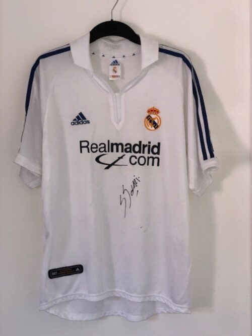 Real Madrid 2001 - 2002 Home Shirt Santiago Solari Signed